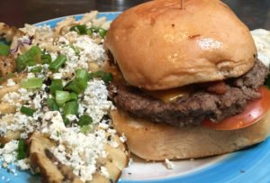 The Farmer Burger with Gorgonzola Fries