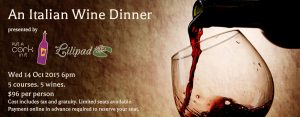 Italian Wine Dinner at the Lilipad