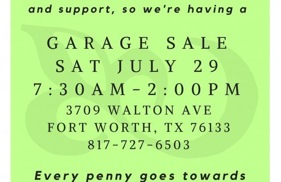 Garage Sale Benefit