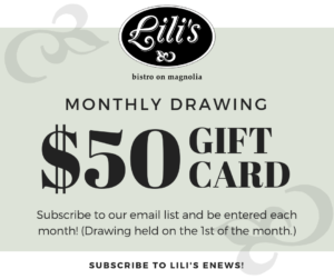Monthly Drawing for a $50 gift card!